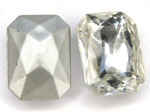 00010-Oc-ls Octagon, Crystal Silver Foiled 18 x 13 mm.-0