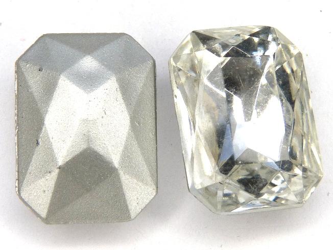 00010-Oc-ls Octagon, Crystal Silver Foiled 18 x 13 mm.-0