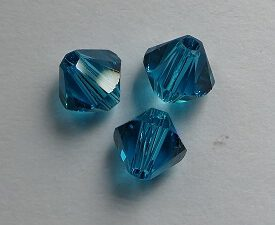 SW-05-BLZIR 5328 Blue Zircon Swarovski Bicone 5 mm. 10 Pc.-0