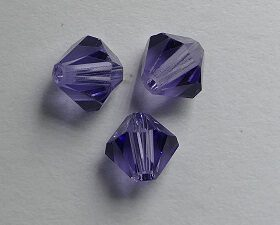 SW-05-TAN 5301 Tanzanite Swarovski Bicone 5 mm. 10 Pc.-0