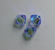 SW-04-SAPLTAB2 5301 Light Sapphire AB2x Swarovski Bicone 4 mm. 40 Pc.-0