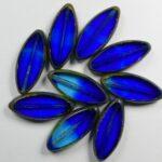 0090383 Aqua Cobalt Picasso Table Cut Bead. 5 Pc.-0