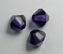SW-05-PU 5328 Purple Velvet Swarovski Bicone 5 mm. 10 Pc.-0