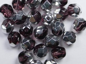 0080699 Amethyst Half Labrador facet 6 mm. 25 Pc.-0