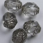 0150068 Crystal Lustered Antique Style Cathedral Beads 5 Pc.-0