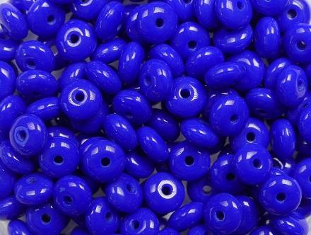 0090394 Deep Opaque Blue Rondelle 80 Pc. -0