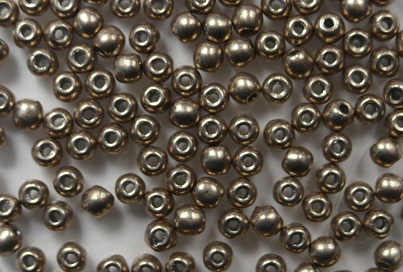 02-R-77056CR Color Trends Saturated Metallic Hazelnut round 2 mm. 150 Pc.-0
