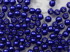 02-R-77065CR Color Trends Saturated Metallic Lapis Blue round 2 mm. 150 Pc.-0