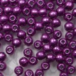 02-R-77062CR Color Trends Saturated Metallic Pink Yarrow round 2 mm. 150 Pc.-0