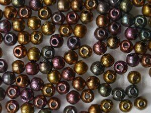 02-R-00030-01640 Matte Metallic Bronze Iris round 2 mm. 150 Pc.-0