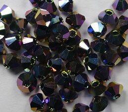 03-MC-00010-28136x2 Bicone, Crystal 2x Vitrail 3 mm. 50 Pc.-0