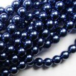 06-132-19001-70467 Shiny Montana 6 mm. Glass Pearl 100 Pc.-0
