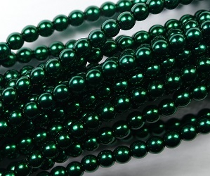 03-132-19001-70959 Shiny Deep Emerald Glass Pearl 150 Pc. -0