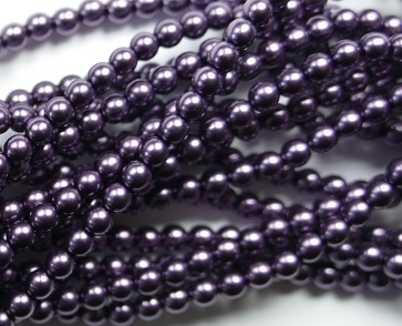 03-132-19001-10241 Shiny Eggplant Glass Pearl 150 Pc. -0