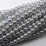 03-132-19001-70483 Shiny Platinum Glass Pearl 150 Pc. -0