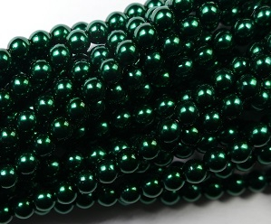 04-132-19001-70959 Shiny Deep Emerald Glass Pearl 120 pc-0