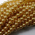 04-132-19001-70486 Shiny Light Gold Glass Pearl 120 pc-0