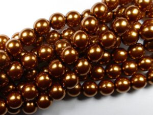 08-132-10271 Copper Glass Pearl 25Pc.-0