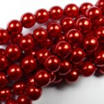 08-132-70498 Red Glass Pearl 25Pc.-0
