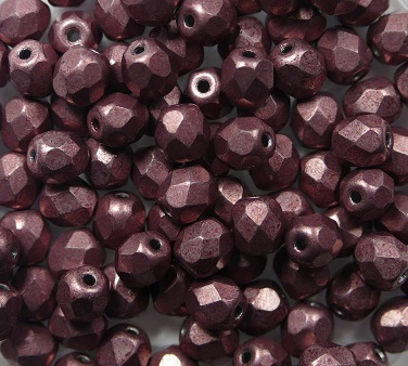FP-04-04B04 Color Trends: Saturated Metallic Butterum facet 4 mm. 50 Pc.-0