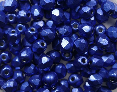 FP-04-04B05 Color Trends: Saturated Metallic Navy Peony facet 4 mm. 50 Pc.-0