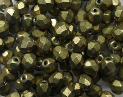 FP-04-04B08 Color Trends: Saturated Metallic Golden Lime facet 4 mm. 50 Pc.-0