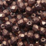 FP-04-04B10 Color Trends: Saturated Metallic Autumn Maple facet 4 mm. 50 Pc.-0
