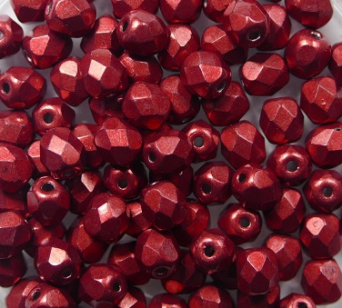 FP-04-05A08 Color Trends: Saturated Metallic Cherry Tomato facet 4 mm. 50 Pc.-0