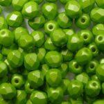 FP-04-29375AL Powdery Pastel Lime facet 4 mm. 50 Pc.-0