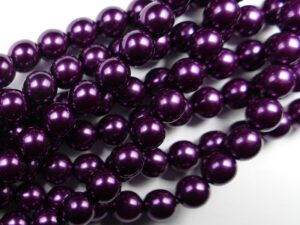 08-132-70478 Purple Glass Pearl 25 Pc.-0