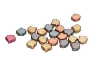 GIN-00030-01640 Matubo 2 Hole Ginko Bead Violet Rainbow 10 gram-0