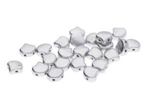 GIN-00030-01700 Matubo 2 Hole Ginko Bead Matte Metallic Silver 10 gram-0
