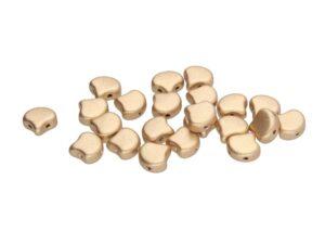 GIN-00030-01710 Matubo 2 Hole Ginko Bead Matte Metallic Flax 10 gram-0