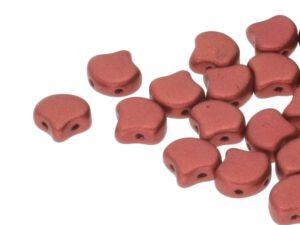 GIN-00030-01750 Matubo 2 Hole Ginko Bead Matte Metallic Copper 10 gram-0