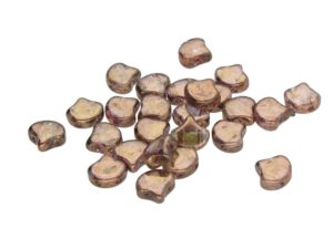GIN-00030-15695 Matubo 2 Hole Ginko Bead Senegal Brown 10 gram-0