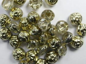 CR-00030-26441 Crystal Amber Half 2-hole Candy Rose Bead 20 Pc.-0