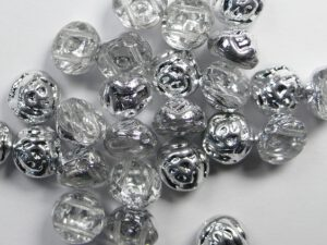 CR-00030-27001 Crystal Labrador Half 2-hole Candy Rose Bead 20 Pc.-0