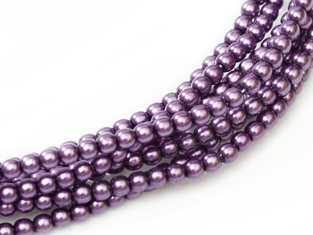 08-132-70429 Violet Glass Pearl 25 Pc.-0