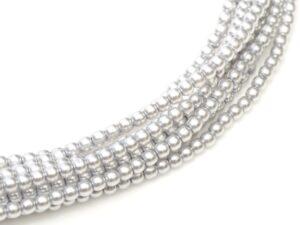 08-132-70483 Shiny Platinum Glass Pearl 25 Pc.-0