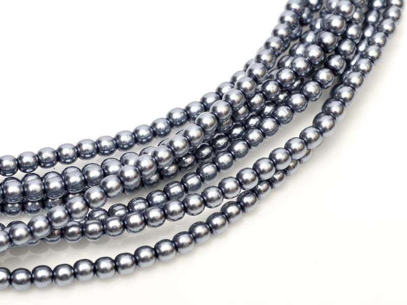 08-132-70488 Grey Glass Pearl 25 Pc.-0
