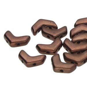 CHEV-23980-14415 Chevron Duo Beads Jet Bronze 30 stuks-0