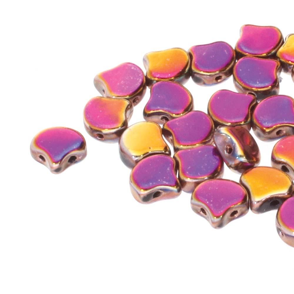 GIN-23980-29503 Matubo 2 Hole Ginko Bead Jet Full Sliperit 10 gram-0