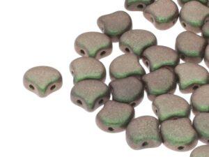 GIN-23980-94103 Matubo 2 Hole Ginko Bead Polychrome Sage & Citrus 10 gram-0