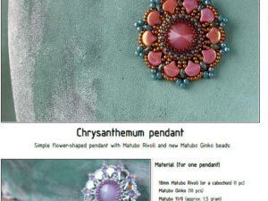 Free Pattern with Ginko Chrysantemum Pendant-0