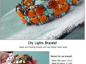 Free Pattern with Ginko City Lights Bracelet -0