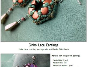 Free Pattern with Ginko Ginko Lace Earrings-0