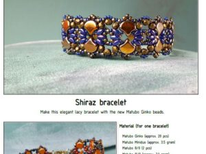 Free Pattern with Ginko Shiraz Bracelet-0