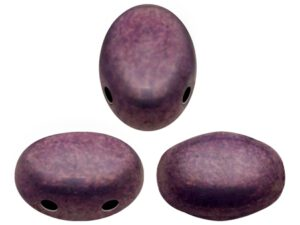 SAM-03000-15726 Samos® par Puca Opaque Mix Amethyst/Gold Ceramic Look 10 gram-0