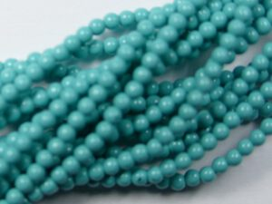 06-132-19001-48655 Shiny Turquoise Blue Glass Pearl 100 pc-0