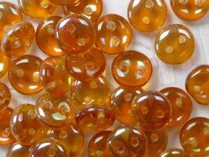 CML-00030-29121 CzechMate Lentils Crystal Apricot Medium 40 Pc.-0